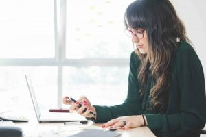 woman working on website optimisation