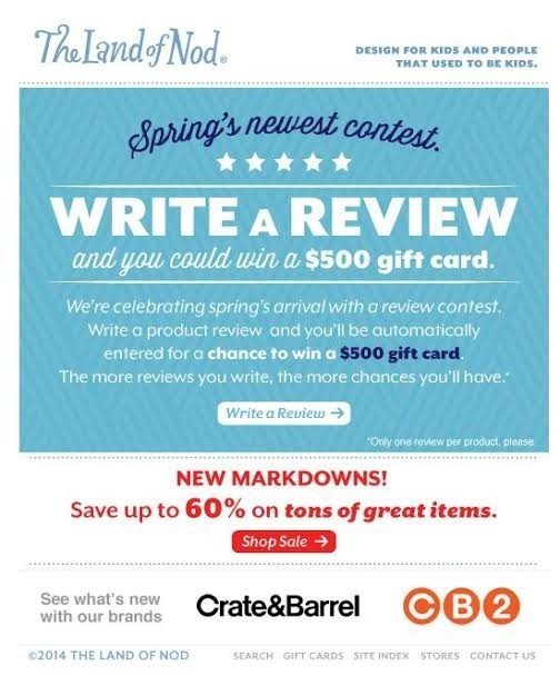 automated product review email