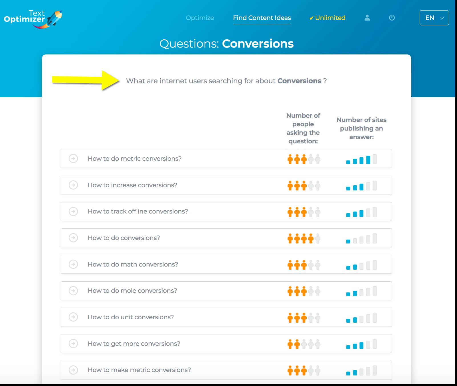 Text Optimizer questions